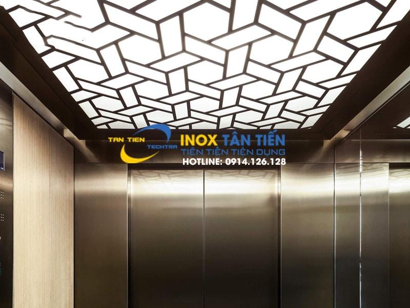 Ốp thang máy inox